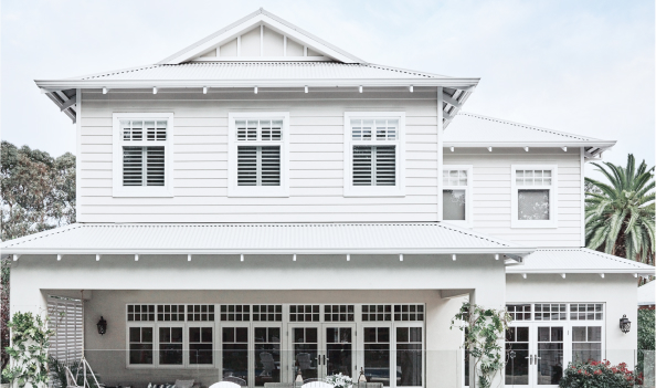 A two-storey-house with hamptons style